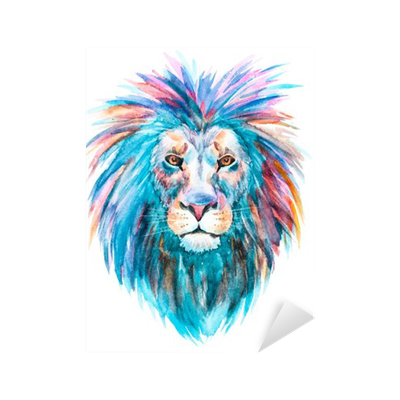 Watercolor Vector Lion Sticker Pixers 174 We Live To Change