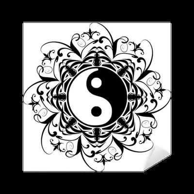 Ying yang tatuaggio tatoo tatouage ornamental sticker pixers we live to change - Tatouage ying yang ...