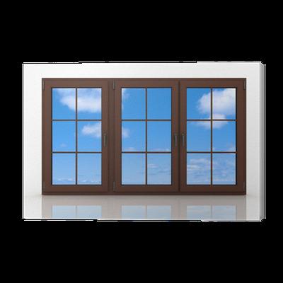 tableau sur toile 3d ferm la fen tre en plastique sur fond blanc pixers nous vivons pour. Black Bedroom Furniture Sets. Home Design Ideas