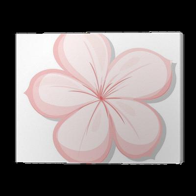 tableau sur toile a cinq p tale de fleur de rose pixers. Black Bedroom Furniture Sets. Home Design Ideas