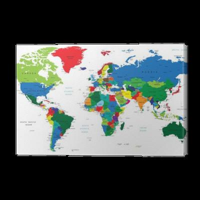 tableau sur toile carte du monde pays pixers nous vivons pour changer. Black Bedroom Furniture Sets. Home Design Ideas