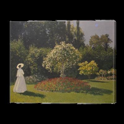 Tableau sur toile Claude Monet - Femme au jardin • Pixers ...