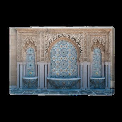 Tableau sur toile Fontaines au carrelage marocain • Pixers® - Nous vivons pour changer