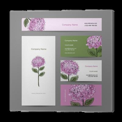 Tableau Sur Toile Jeu De Cartes Visite Avec La Conception Fleur D Hortensia O PixersR