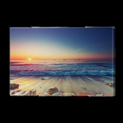 tableau sur toile lever du soleil sur la mer pixers. Black Bedroom Furniture Sets. Home Design Ideas