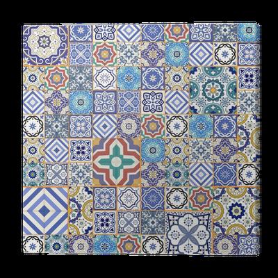 tableau sur toile motif de patchwork sans couture mega. Black Bedroom Furniture Sets. Home Design Ideas