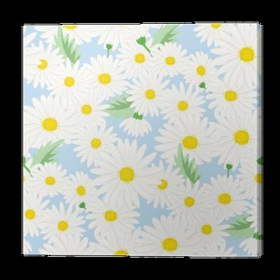 tableau sur toile motif floral sans soudure fond dans les petites fleurs de marguerite sur un. Black Bedroom Furniture Sets. Home Design Ideas