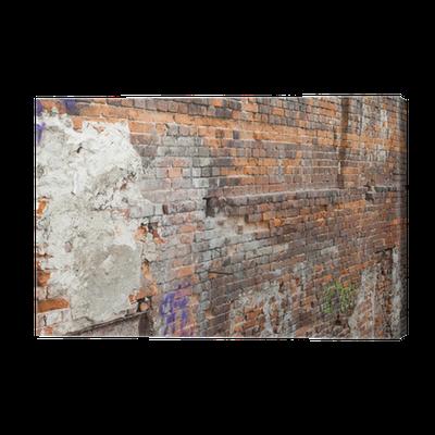 tableau sur toile mur briques anciennes pixers nous vivons pour changer. Black Bedroom Furniture Sets. Home Design Ideas