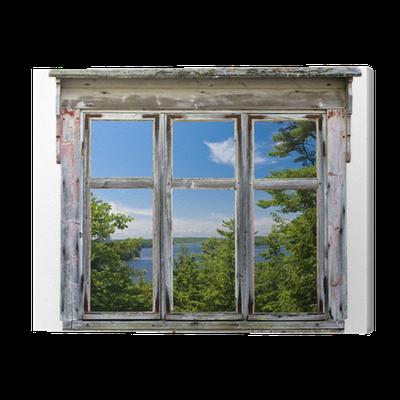 tableau sur toile vue panoramique vu travers un cadre de fen tre vieux pixers nous vivons. Black Bedroom Furniture Sets. Home Design Ideas