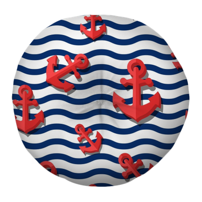 d79957b6c10 ... with 3d stylized red anchors and blue wavy stripes. Summer marine  striped background. Design for fashion textile print