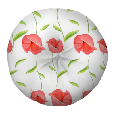 Vintage Hand Drawn Little Bloom Poppies Old Floral Fashion