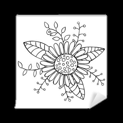 Piirretty Kukka