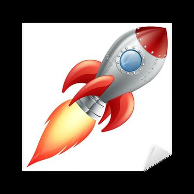 Vinilo pixerstick cartoon cohete nave espacial pixers for Puerta nave espacial
