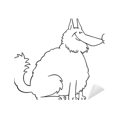 Vinilo Pixerstick Dibujo animado del perro de Pomerania de libro ...