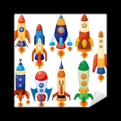Vinilo pixerstick dibujos animados icono de nave espacial for Puerta nave espacial