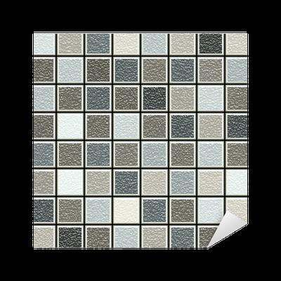Vinilo pixerstick gris y marr n patr n de estructura 3d for Azulejos pvc autoadhesivos