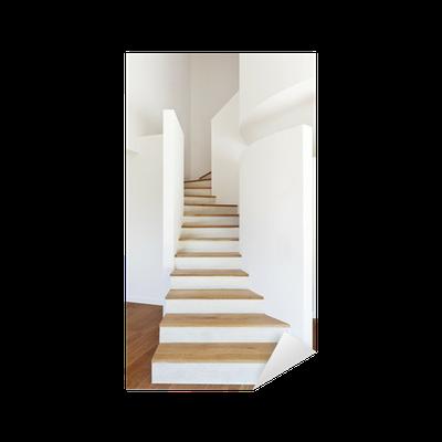 Vinilo pixerstick interior de la casa moderna escalera for Casa moderna parquet