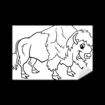 Vinilo Pixerstick La página de bisonte americano para colorear ...