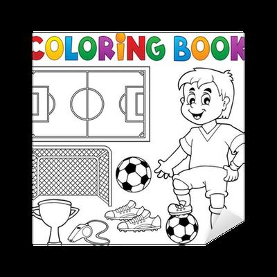 Vinilo Pixerstick Libro para colorear de fútbol el tema 1 • Pixers ...