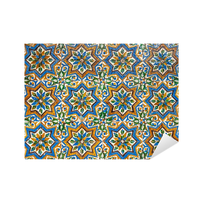 Vinilo pixerstick marroqu de fondo de azulejos de poca for Azulejos pvc autoadhesivos