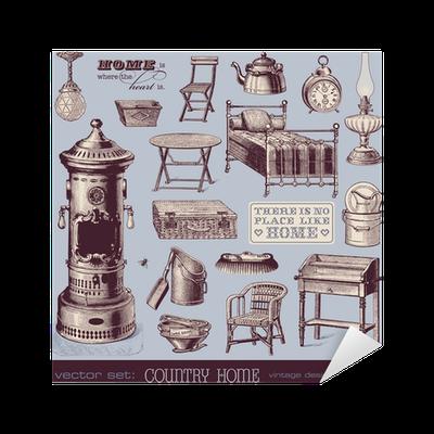 Vinilo pixerstick muebles de poca y objetos de la casa for Muebles de epoca