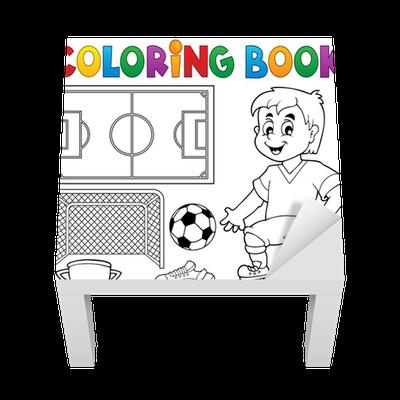 Vinilo para Mesa Lack Libro para colorear de fútbol el tema 1 ...