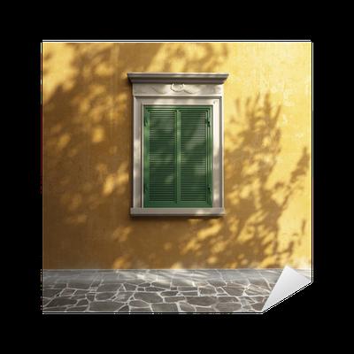 best sneakers 2c6cf 7fbf2 cheap vinilo pixerstick pared de estuco de la toscana antiguo fachada  romntica ventana verde pixers vivimos para cambiar with estuco verde