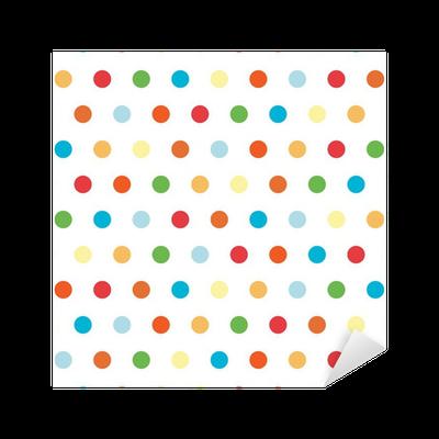 Vinilo pixerstick puntos de fondo polka en colores brillantes pixers vivimos para cambiar - Fotomurales pixel ...