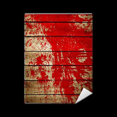 Vinilo pixerstick salpicaduras de pintura roja sobre tabla de madera pixers vivimos para - Salpicaduras de pintura ...