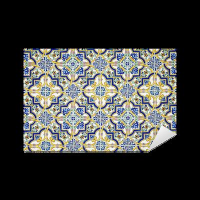 Vinilo pixerstick t pica pared de azulejos andaluz for Azulejos pvc autoadhesivos