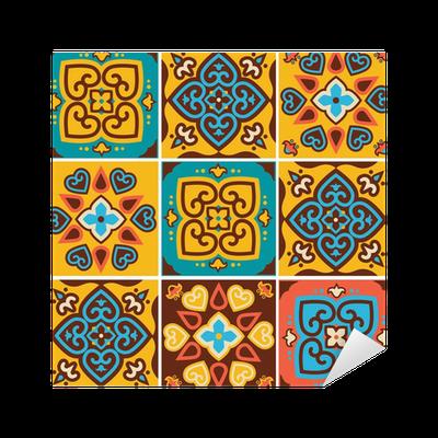 Vinilo pixerstick tradicionales patrones de azulejos de for Azulejos pvc autoadhesivos