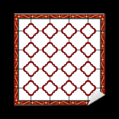 Vinilo pixerstick ventana de dise o de estilo medieval o for Azulejos pvc autoadhesivos