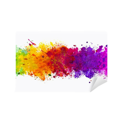 Abstract Artistic Watercolor Splash Background Wall Mural