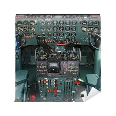 Airplane cockpit wall mural pixers we live to change for Cockpit wall mural