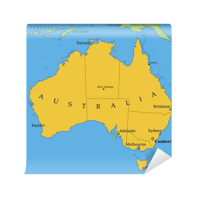 australia map with major cities and provinces wall mural pixers we live to change