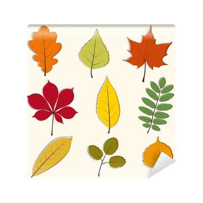 Autumn Leaves Icon Wall Mural Pixers We Live To Change