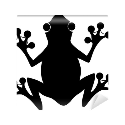 Black Frog Silhouette Logo Wall Mural Pixers 174 We