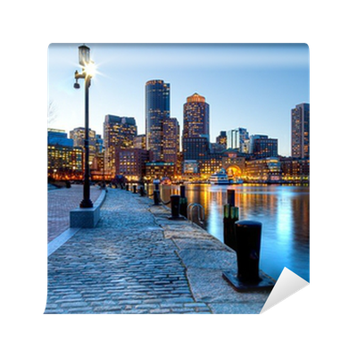 Boston in massachusetts wall mural pixers we live to for Boston wall mural