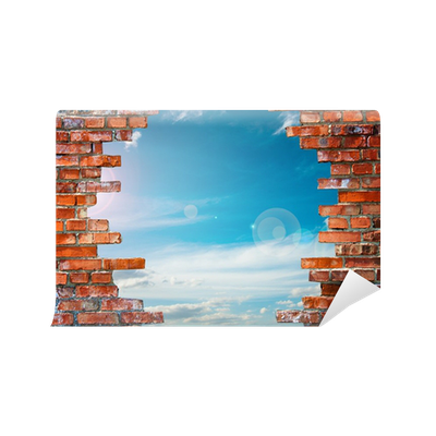 Brick Wall With Hole Wall Mural Pixers 174 We Live To Change