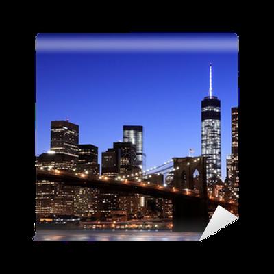 Brooklyn Bridge And Manhattan Skyline New York City Wall