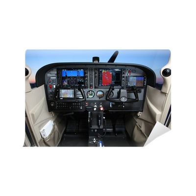 cessna 172sp cockpit wall mural • pixers® - we live to change
