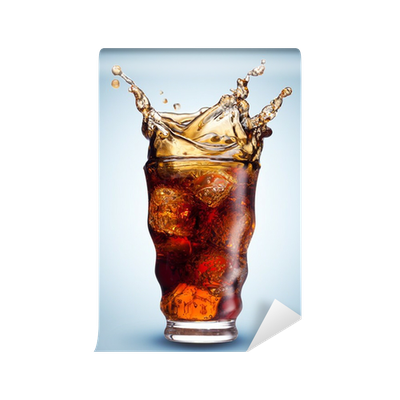 cola splash isolated wall mural • pixers® • we live to change