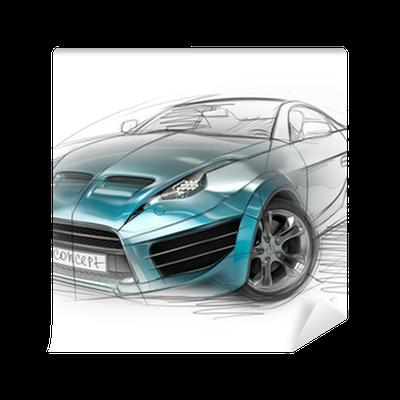 Concept Car Sketch. Original Car Design. Wall Mural U2022 Pixers® U2022 We Live To  Change