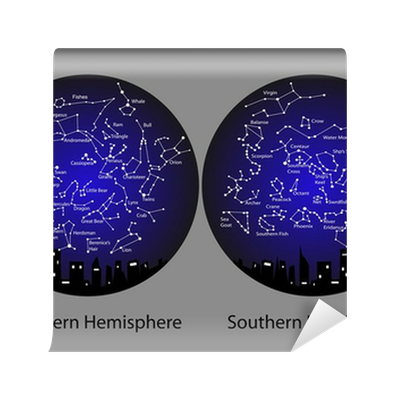 constellations of the northern and southern hemisphere Wall Mural • Pixers®  - We live to change