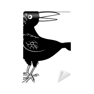 crow or raven bird coloring page wall mural pixers we live to change
