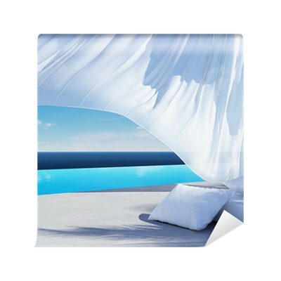 Curtain wind blow lounge sofa bed pool suumer holiday for Sofa bed for xmas