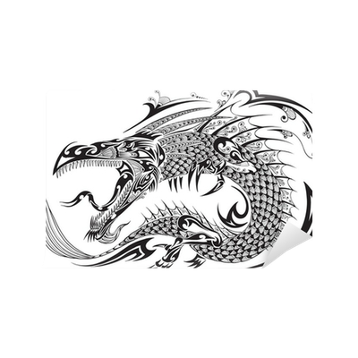 Dragon Doodle Sketch Tattoo Vector Wall Mural Pixers We Live To Change