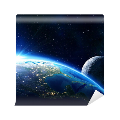 Earth usa horizon and moon wall mural pixers we live for Earth moon wall mural