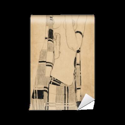 Egon Schiele - Standing Girl Vinyl Wall Mural