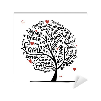 Family Tree Sketch For Your Design Wall Mural Pixers We Live To Change
